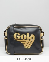 Gola Classic Redford Messenger Bag In Black & Gold