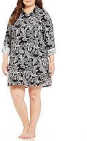 Lauren Ralph Lauren Plus Paisley Jersey Sleepshirt
