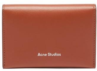 Acne Studios Logo-debossed Bi-fold Leather Cardholder - Tan