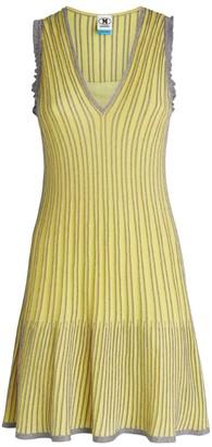 M Missoni Lurex Striped Mini Dress