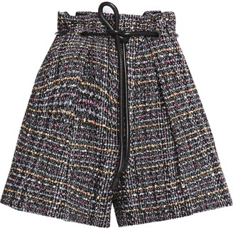3.1 Phillip Lim Belted Boucle-tweed Shorts