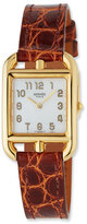 Hermes Cape Cod PM Watch with Etruscan Alligator Strap