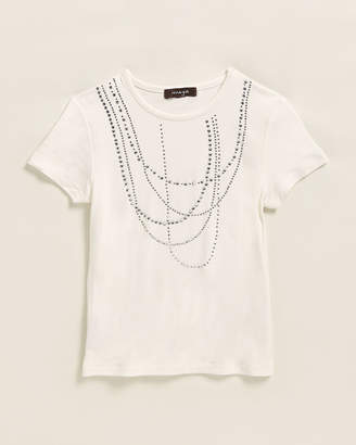 Imoga Girls 4-6x) Rhinestone Necklace Short Sleeve Tee