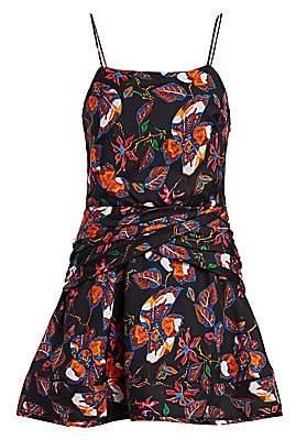 Derek Lam 10 Crosby Women's Floral Camisole Flounce Mini Dress - Size 0