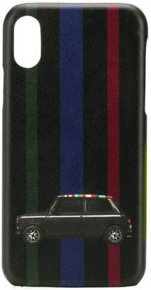 Paul Smith mini stripe leather iphone x case