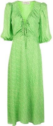 Nicholas Leaf Vine Print Dress