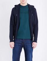 Armani Jeans Logo-detail cotton-jersey hoody