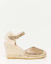 Le Château Spanish-Made Metallic Espadrille