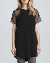 Theyskens' Theory Costril Sheer-Sleeve Shirt