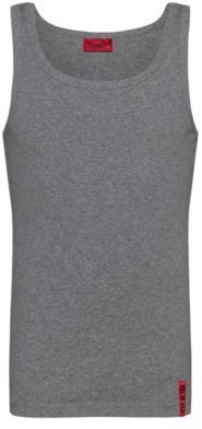 HUGO Slim-fit tank top with vertical logo