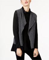 Eileen Fisher Wool Open-Front Vest