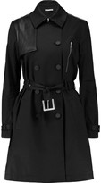 Rebecca Minkoff Strut leather-trimmed stretch-cotton poplin trench coat
