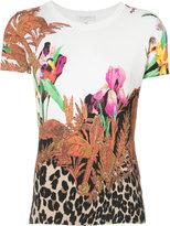 Etro botanical print T-shirt - women - Silk/Spandex/Elastane - 8