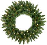 "Vickerman Camdon Fir Wreath, 24"", Clear Lights"
