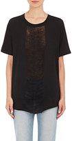 Raquel Allegra WOMEN'S SHREDDED-FRONT T-SHIRT-BLACK SIZE 3