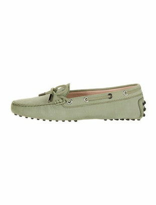 Tod's Gommino Leather Loafers Green