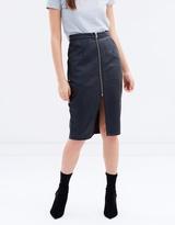 MinkPink PU Midi Skirt