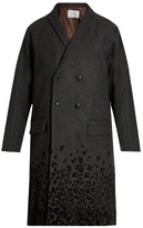 Kolor Flocked Leopard-print Wool-blend Coat