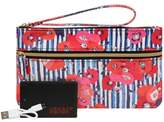 Wilsons Leather Womens Back-Up Buddy Ii Faux-Leather Wristlet