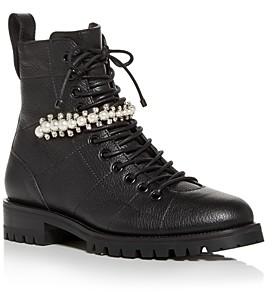 Jimmy Choo Women's Cruz Lace Up Flat Boots