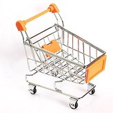 GeoBIX(TM) 1pc Cute Baby Kid Model Toy Gift Mini Supermarket Handcart Shopping Utility Cart Model Storage Toy 6 Colors New FCI#