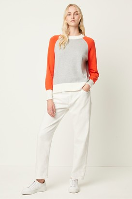 French Connection Colour Block Raglan Sleeve Jumper