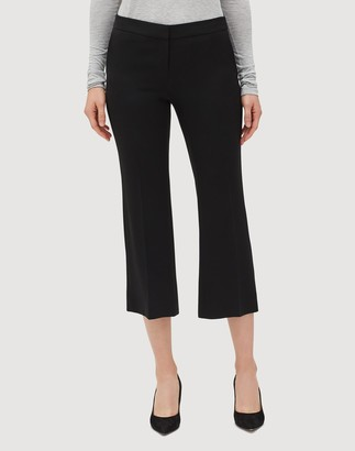 Lafayette 148 New York Petite Finesse Crepe Cropped Manhattan Flare Pant