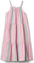 Gap Pastel stripe tier dress