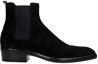 Buttero Ankle Boots In Black Suede