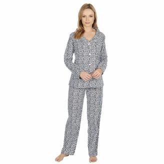 Forever Dreaming Ladies 100% Brushed Cotton Pyjamas Leopard Print Size Large