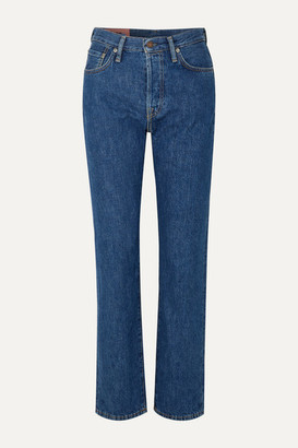 Acne Studios 1997 Organic High-rise Straight-leg Jeans - Dark denim