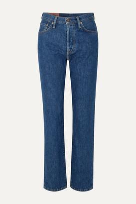 Acne Studios Organic High-rise Straight-leg Jeans - Dark denim