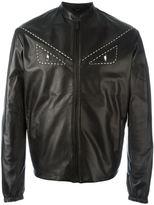 Fendi Bag Bugs jacket - men - Calf Leather/Brass - 48
