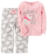 Carter's Baby Girl 2-pc. Top & Fleece Pants Pajama Set