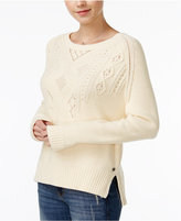 Roxy Juniors' Dark Water Cable-Knit Sweater