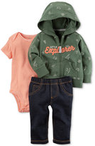 Carter's 3-Pc. Cotton Explorer Hoodie, Bodysuit and Jeans Set, Baby Boys (0-24 months)