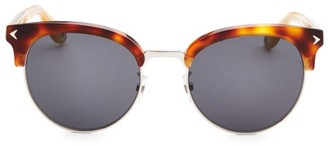 Givenchy 55MM Half-Rim Round Sunglasses