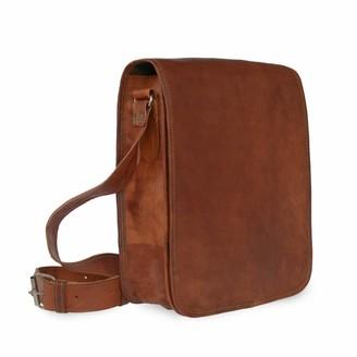 Vida Vida Vida Vintage Leather Messenger Day Bag