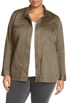 Sejour Twill Utility Jacket (Plus Size)