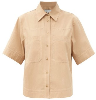 Lee Mathews May Patch-pocket Cotton-poplin Shirt - Beige