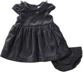 Carter's Velour Dress (Baby) - Gray-18 Months