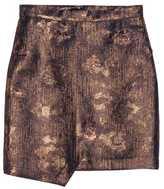 H&M Glittery Wrap Skirt - Dark blue/gold - Ladies