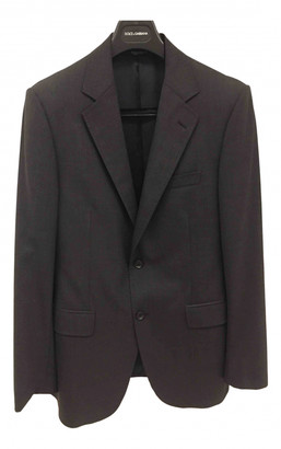 Dolce & Gabbana Anthracite Wool Suits