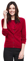 Lands' End Women's Cashmere Cardigan Sweater-Classic Navy/Rich Red