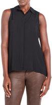 Joseph A Petite Sleeveless Button-Front Shirt