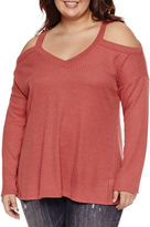 Self Esteem Long Sleeve V Neck T-Shirt-Juniors Plus