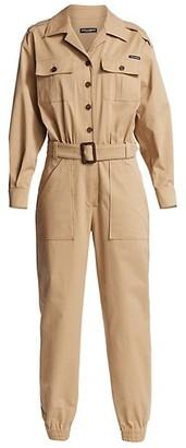 Dolce & Gabbana Khaki Belted Jumpsuit