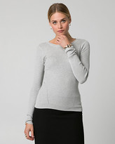Le Château Rib Viscose Blend Crew Neck Sweater