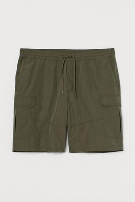 H&M Nylon Cargo Shorts