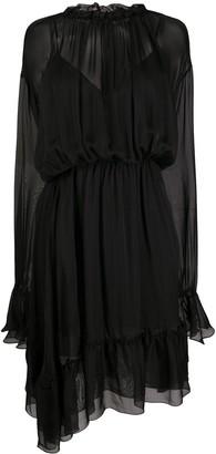 FEDERICA TOSI Ruffle-Trim Sheer Dress